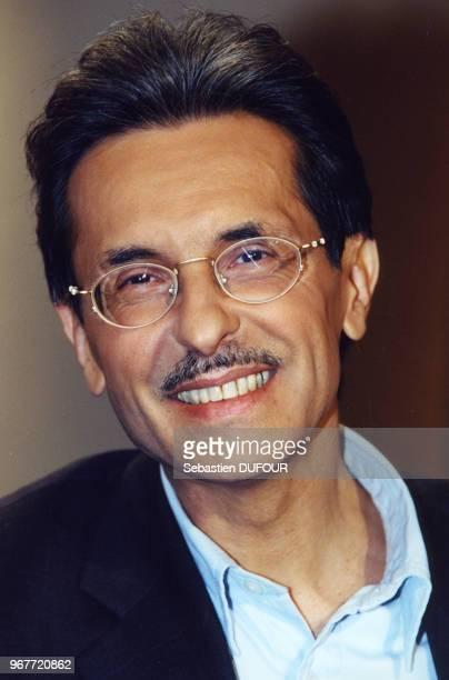 Portrait de l'écrivain Alain Vircondelet invité de l'émission Bouillon de Culture le 14 avril 2000 Paris France