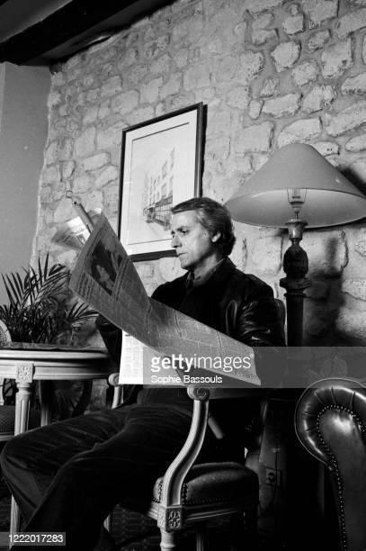 Portrait de l'écrivain américain Don Delillo est à Paris pour la sortie de deux romans, Americana et Mao II