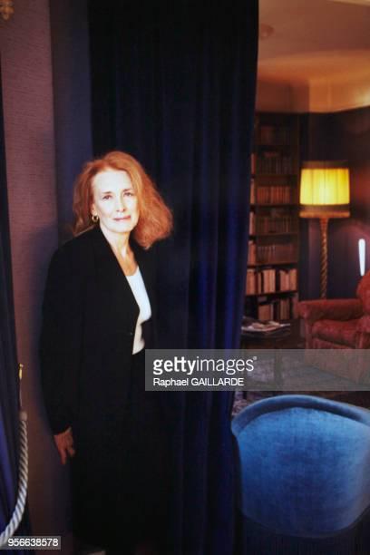 Portrait de l'écrivain Annie Ernaux en janvier 2001 à Paris France
