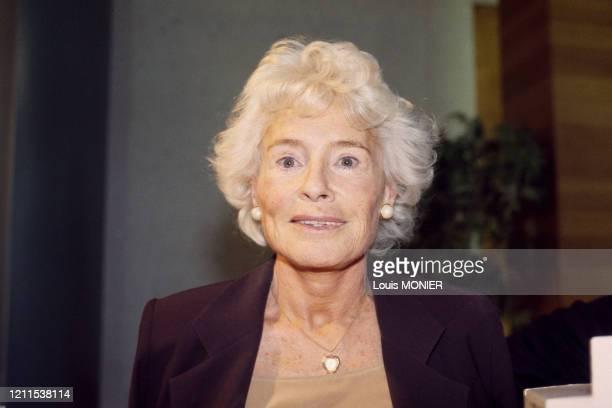 Portrait de l'écrivain Claude Sarraute en novembre 1996 France