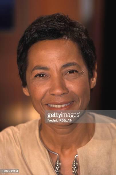 Portrait de l'écrivain Maddly Bamy, le 7 novembre 2000, Paris, France.