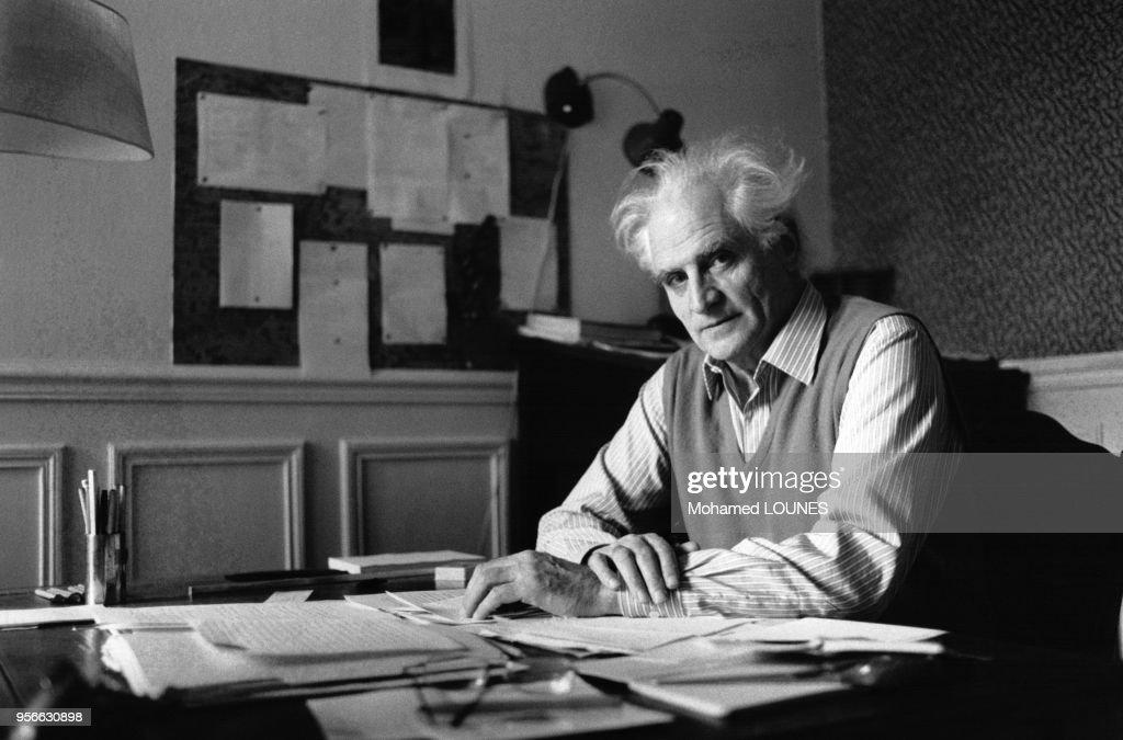 Portrait de l'écrivain Michel Serres : ニュース写真