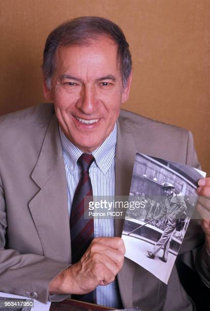 Portrait de l'écrivain Roger Borniche en juin 1989 Paris France