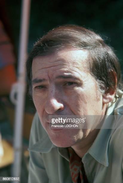 Portrait de l'écrivain Roger Borniche le 12 juin 1976 à PortMarly en France