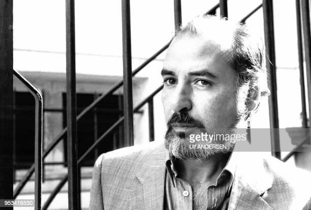 Portrait de l'écrivain Tahar Ben Jelloun en septembre 1985 à Paris France