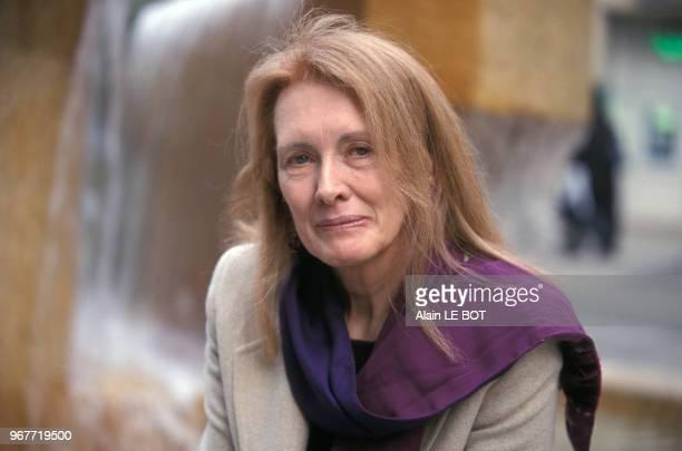 Portrait de l'écrivaine française Annie Ernaux le 22 février 2001 à Nantes France
