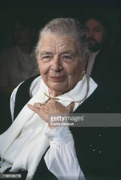 Portrait de l'écrivaine Marguerite Yourcenar invitée de l'émission de télévision Apostrophes