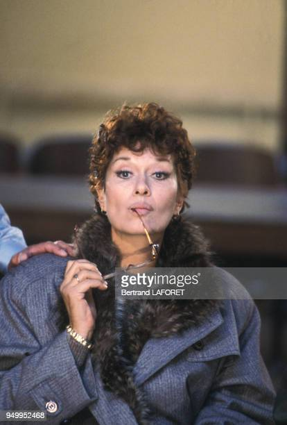 Portrait de Lea Massari lors du tournage du film 'Sarah' réalisé par Maurice Dugowson en 1982 en France