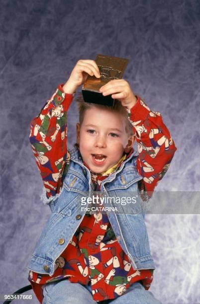 Portrait de l'enfant et enfant-star Jordy à Béziers en 1993.