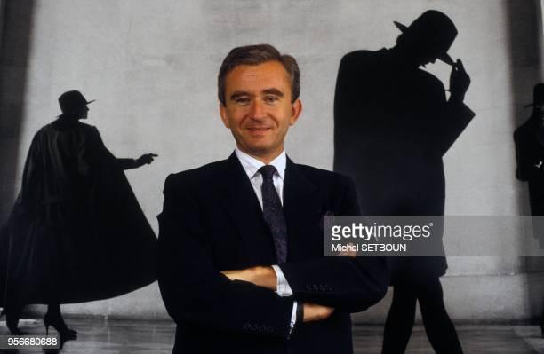 Portrait de l'homme d'affaires Bernard Arnault circa 1980