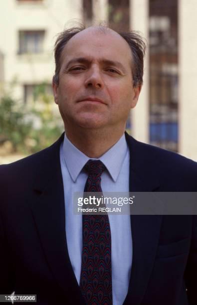 Portrait de l'homme d'affaires français Jacques Maillot, le 15 avril 1987, France.