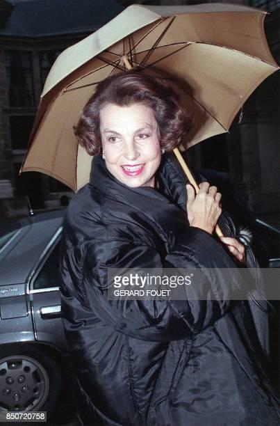 Portrait de Liliane Bettencourt héritière du fondateur du groupe de cosmétiques L'Oréal épouse du sénateur André Bettencourt pris le 30 novembre 1988...