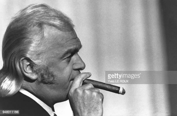 Portrait de l'imprésario français Johnny Stark en février 1969 à Paris France