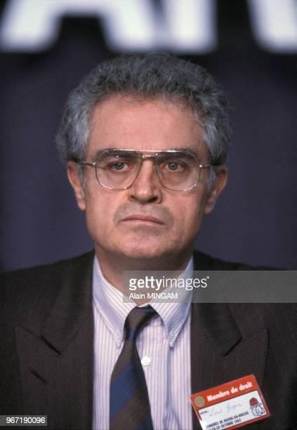 Portrait de Lionel Jospin lors du congrès du Parti Socialiste à Bourg-en-Bresse le 29 octobre 1983, France.