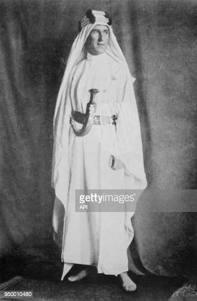 Portrait de l'officier britannique Lawrence d'Arabie circa 1925 par Harry A Chase