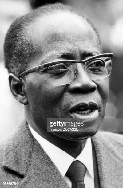 Portrait de Léopold Sédar Senghor, premier président de la république du Sénégal, en 1984.