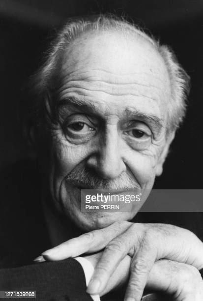 Portrait de Louis Ducreux, à Paris, France le 5 février 1985.