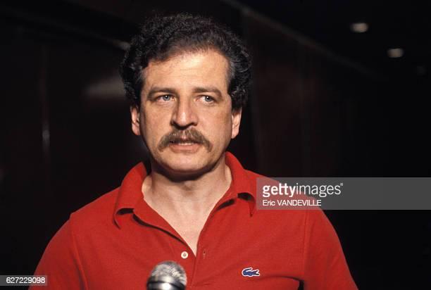 Portrait de Luis Carlos Galan politicien circa 1980 en Colombie