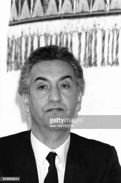 Portrait de l'un des chefs historiques de la révolution algérienne Hocine Aït Ahmed en Décembre 1985 en France