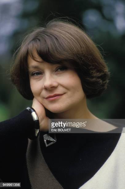Portrait de Macha Méril en avril 1984 à Cognac, France.
