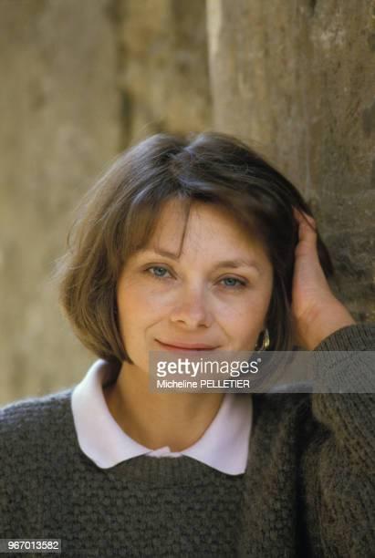 Portrait de Macha Méril le 15 avril 1985 en France.