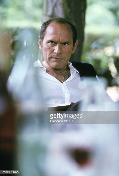 Portrait de Marcel Bozzuffi acteur circa 1980 en France