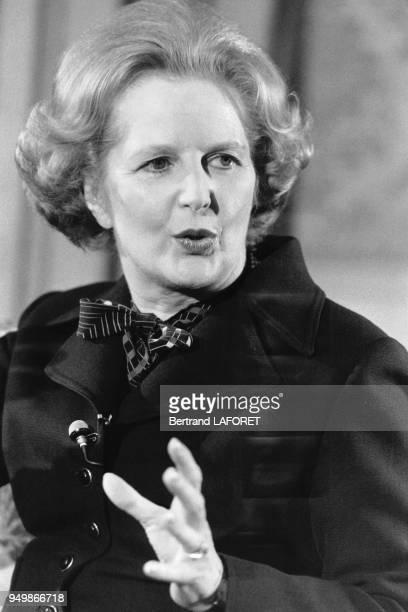 Portrait de Margaret Thatcher le 11 mars 1980 à Londres RoyaumeUni
