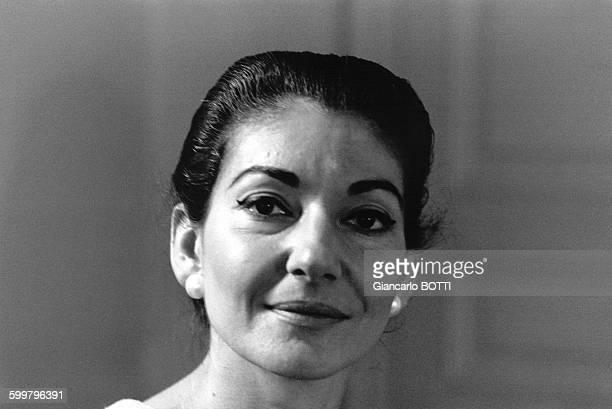Portrait de Maria Callas en 1971 à Paris France