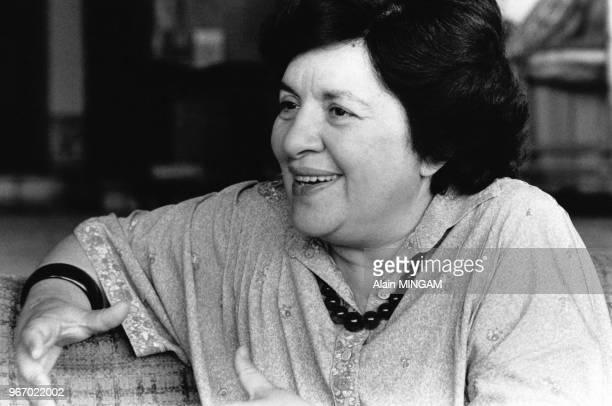 Portrait de Maria de Lourdes Pintasilgo Premier ministre portugais le 15 septembre 1979 à Lisbonne Portugal