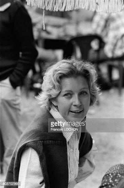 Portrait de Marie Dubois en septembre 1976 à Deauville France