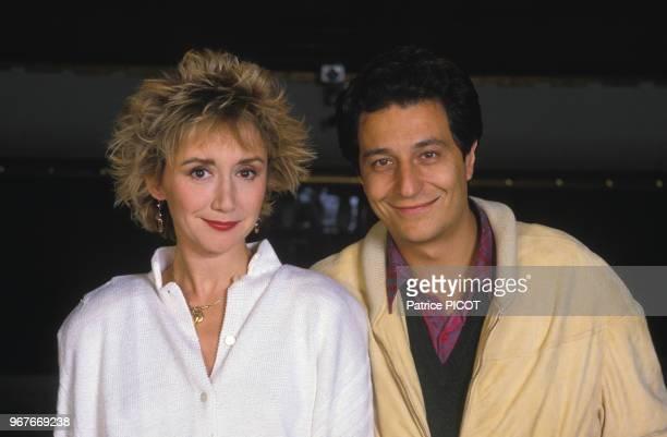 Portrait de MarieAnne Chazel et Christian Clavier le 17 octobre 1988 à Paris France