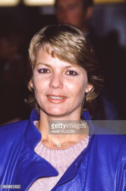 Portrait de MarieFrance Cubadda à Roissy France le 3 janvier 1986
