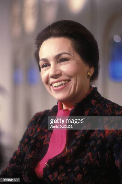 Portrait de MarieFrance Garaud le 18 décembre 1985 à Paris France