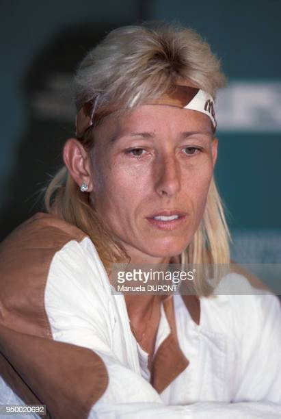 Portrait de Martina Navratilova lors de la finale du tournoi de Flushing Meadows le 10 septembre 1989 à New York EtatsUnis