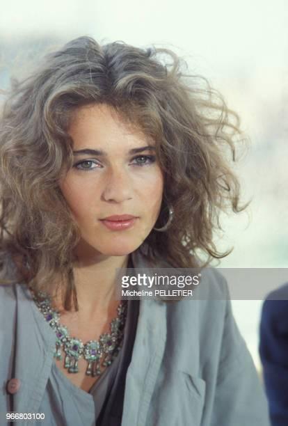 Portrait de Maruschka Detmers le 22 mai 1984 à Cannes France