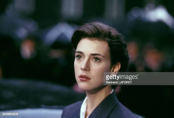 Portrait de Maruschka Detmers lors du tournage du film 'Hanna's War' réalisé par Menahem Golan en octobre 1987