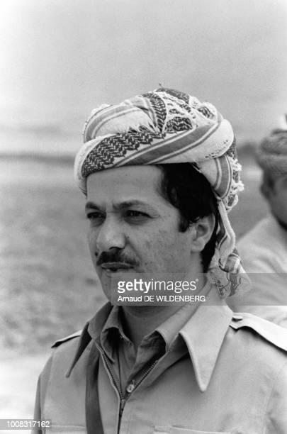 Portrait de Massoud Barzani, leader du Parti Démocratique du Kurdistan l'un quatre mouvements autonomistes kurdes, août 1979, Iran.