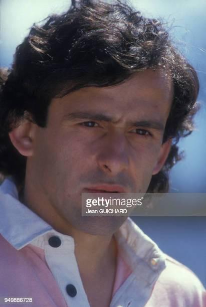 Portrait de Michel Platini le 5 mai 1986 à FontRomeu France