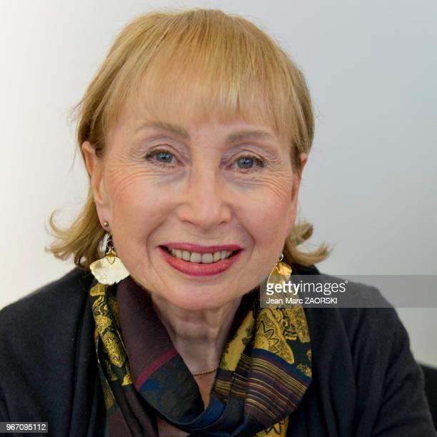 Portrait de Michèle Kahn journaliste et écrivain française auteur de littérature sur la Shoah lauréate du prix JosephKessel ici à l'occasion de...