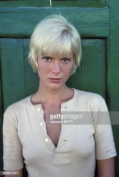 Portrait de Mimsy Farmer actrice en octobre 1969 en France