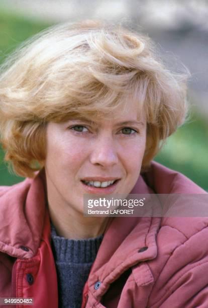 Portrait de Mimsy Farmer actrice en octobre 1982 à Paris France