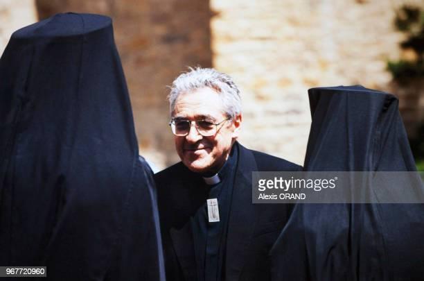 Portrait de Monseigneur JeanMarie Lustiger cardinal archevêque de Paris le 13 mai 2000 France