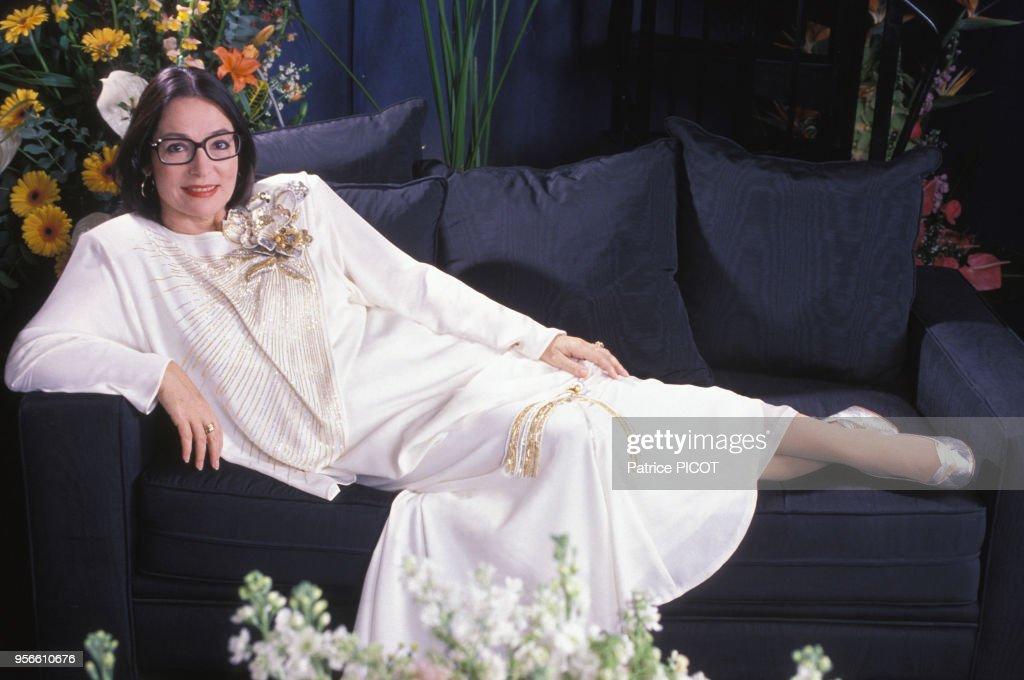 Portrait de Nana Mouskouri en 1989 : Photo d'actualité