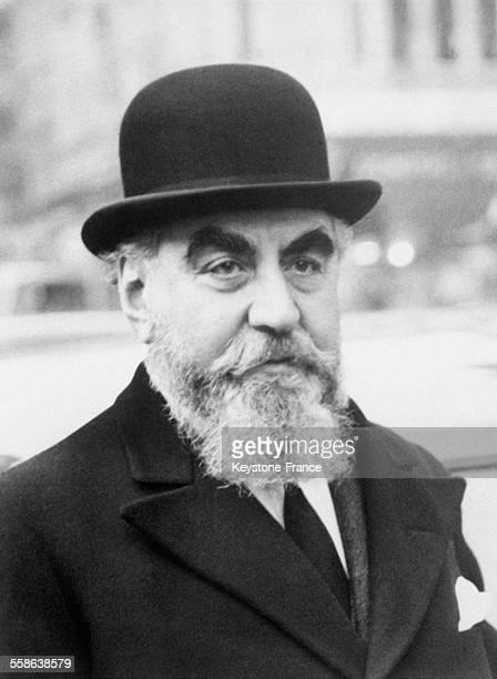 Portrait de Nubar Sarkis Gulbenkian, homme d'affaires arménien, le 17 mars 1956.