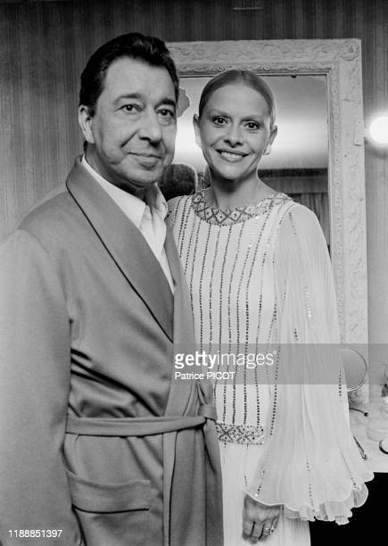 Portrait de Paul Meurisse et Christiane Minazzoli après la 1ère de la pièce 'L'autre valse' au Théâtre des Variétés à Paris le 8 octobre 1975 France