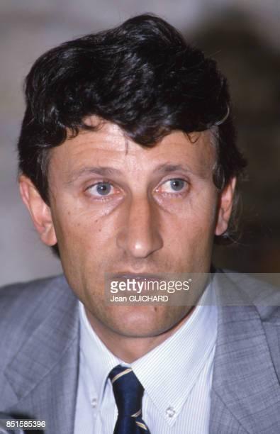 Portrait de Philippe de Villiers en France le 23 juillet 1986