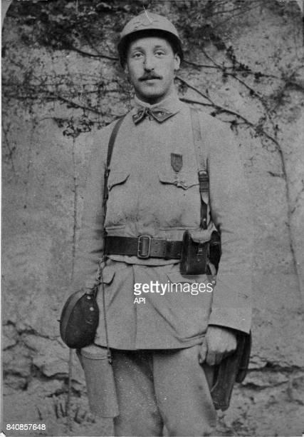 Portrait de Pierre Dreyfus fils d'Alfred Dreyfus pendant la Première Guerre Mondiale France