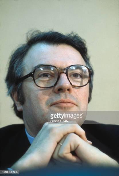 Portrait de Pierre Mauroy, circa 1970, France.