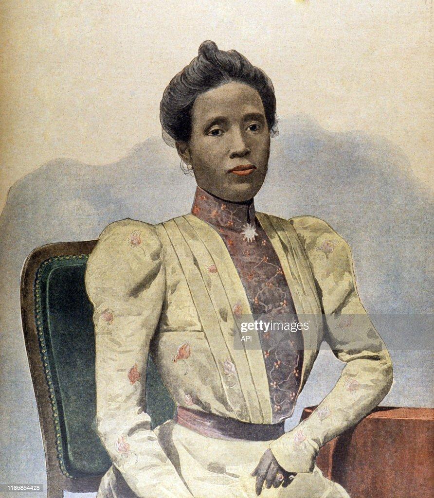 Portrait de Ranavalona III : News Photo