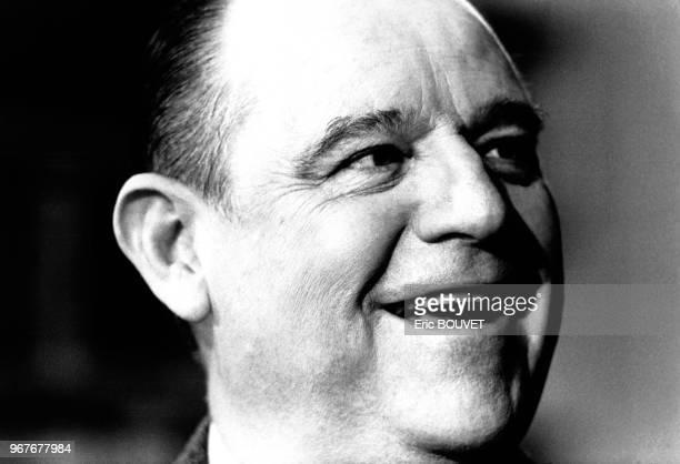 Portrait de Raymond Barre invité de l'émission 'Question à domicile' le 14 février 1988 à Paris France